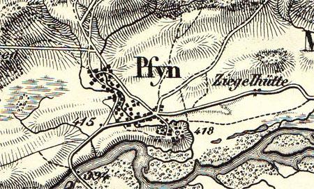 Karte aus dem Jahre 1862