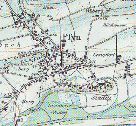 Karte aus dem Jahre 1990