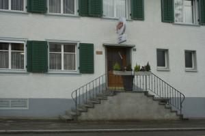 Der Eingang zum Gasthaus Krone heute